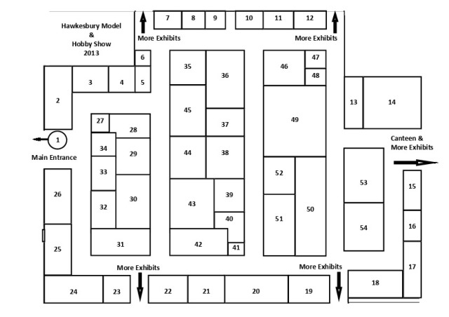 Hawkes Model & Hobby Show 2013 A4 Guide Diagram