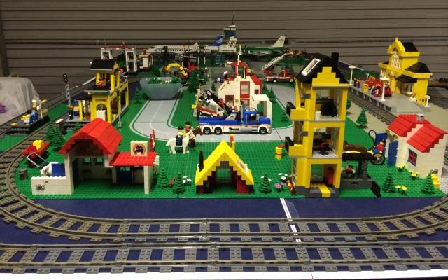 Work in progress as Lego City grows.