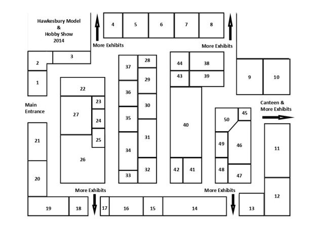 Hawkes Model & Hobby Show 2014 A4 Guide Diagram