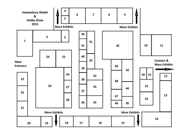 Hawkes Model & Hobby Show 2015 A4 Guide Diagram